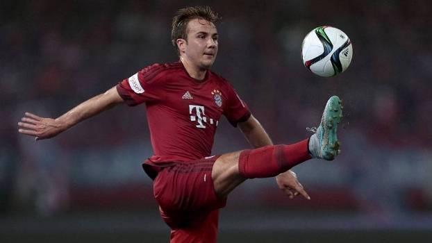 Mario Gotze durante amistoso de pré-temporada do Bayern de Munique