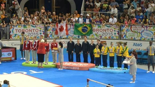 Meninas do Brasil conquistaram o bronze na ginástica por equipes, atrás de EUA e Canadá