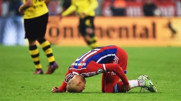 Robben se lesionou novamente e não voltará mais ao Bayern de Munique na temporada