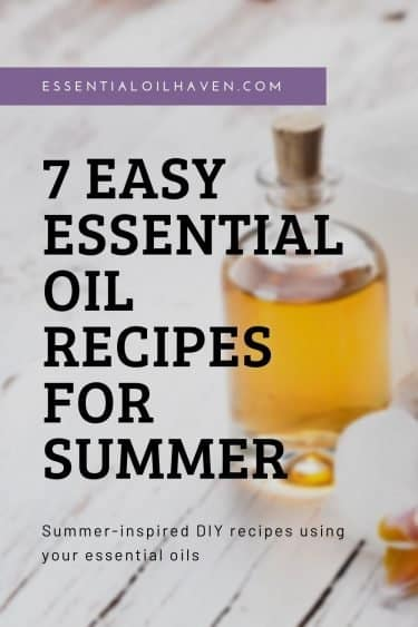 summer inspired essential oil recipes