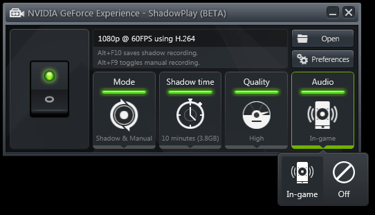 Nvidia ShadowPlay vedette (10)