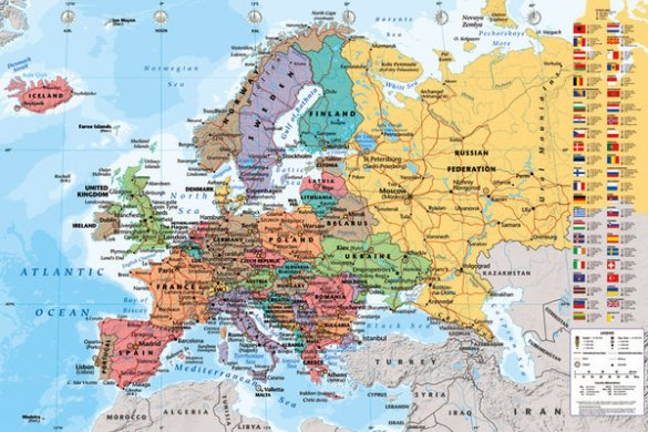 Map of Europe   Political Poster   Sold at Abposters com 3