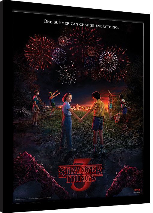 stranger things one summer framed poster buy at europosters