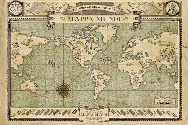 Fantastic Beasts And Where To Find Them   Map Poster   Sold at     Fantastic Beasts And Where To Find Them   Map Poster