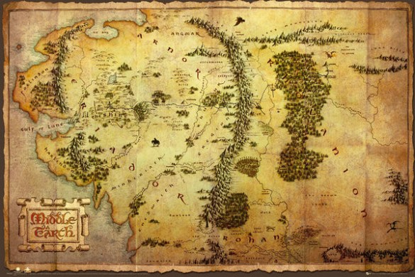 The Hobbit   Middle Earth Map Poster   Sold at Europosters The Hobbit   Middle Earth Map Poster