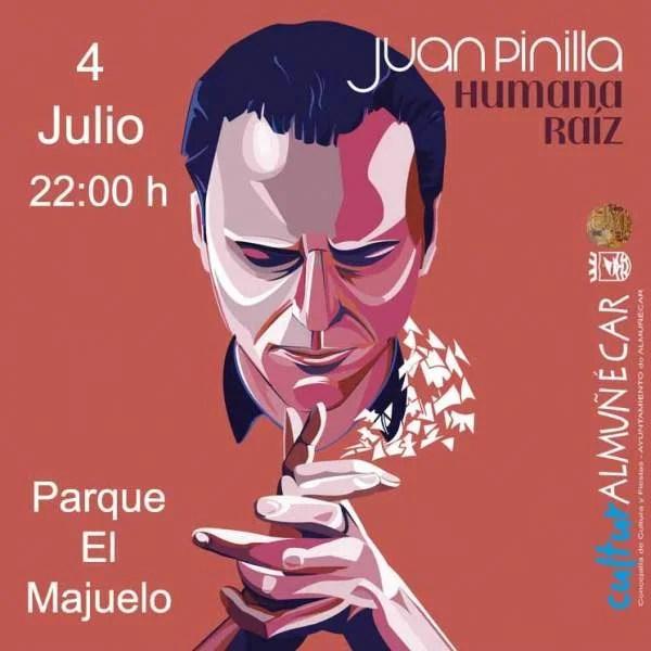 Flamenco star Juan Pinilla performs at the El Majuelo Park auditorium in Almuñecar in Spain's Axarquia region