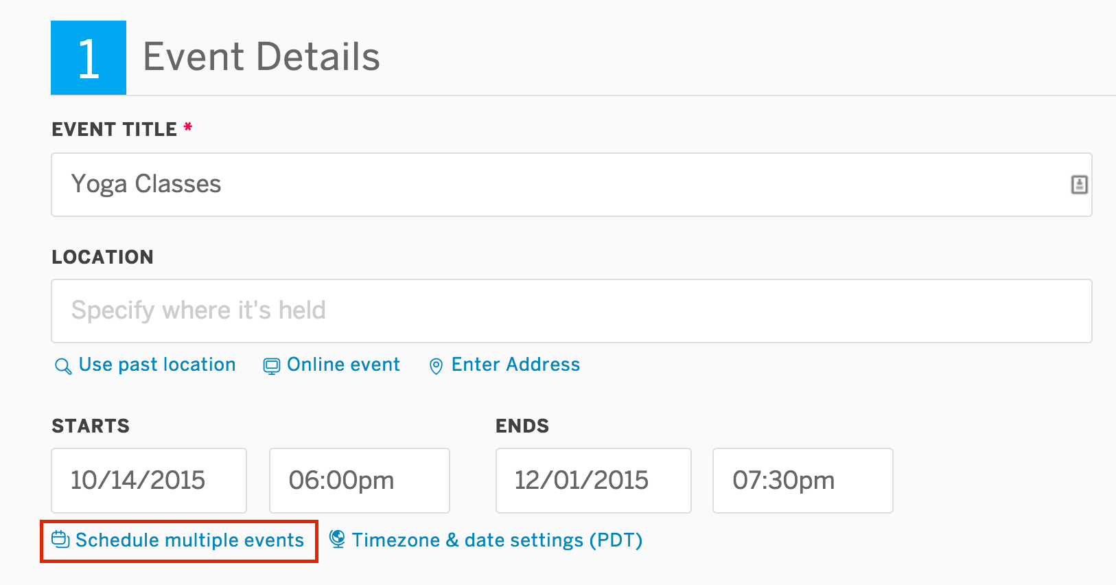How To Set Up An Event Schedule With Multiple Dates