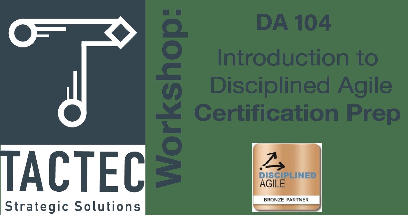 DA 104 Certification Prep Workshop Header