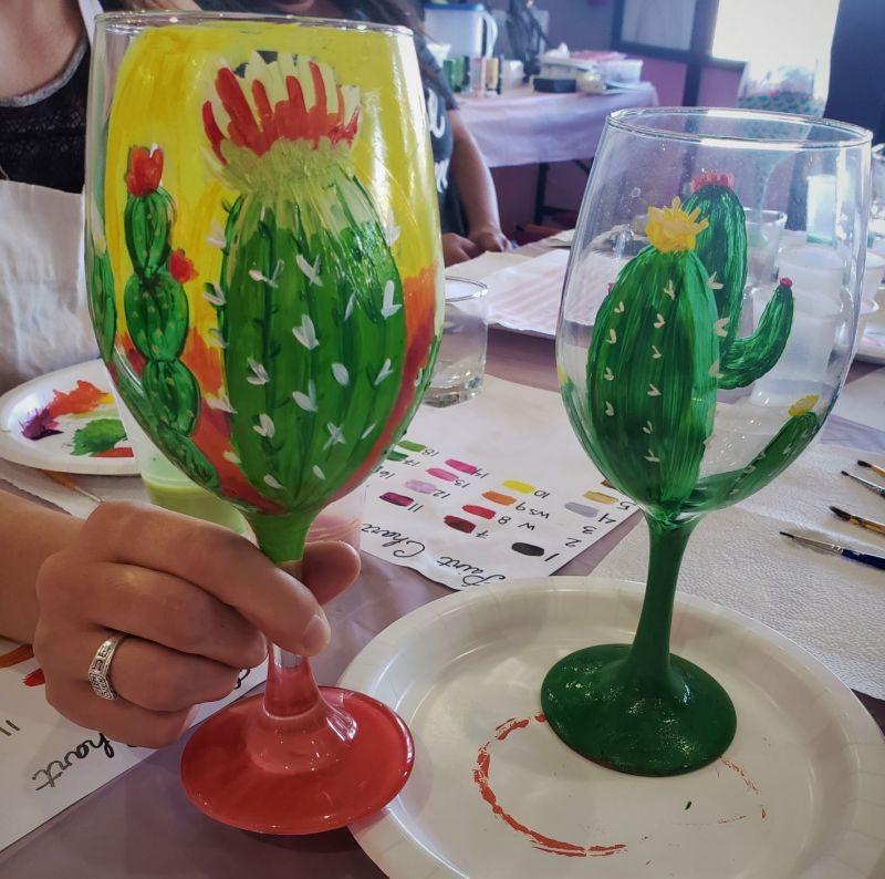 cactus arizona wine glass