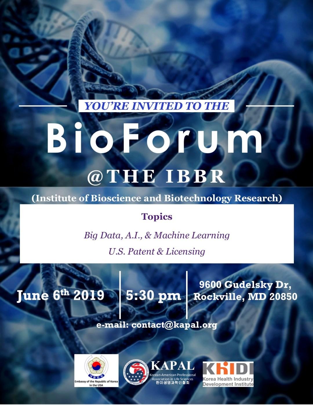 6th BioForum Flyer