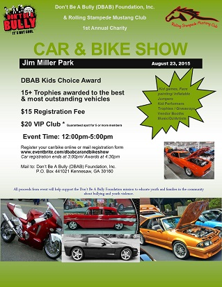 DBAB Foundation & Rolling Stampede Mustang Club Charity Car & Bike Show