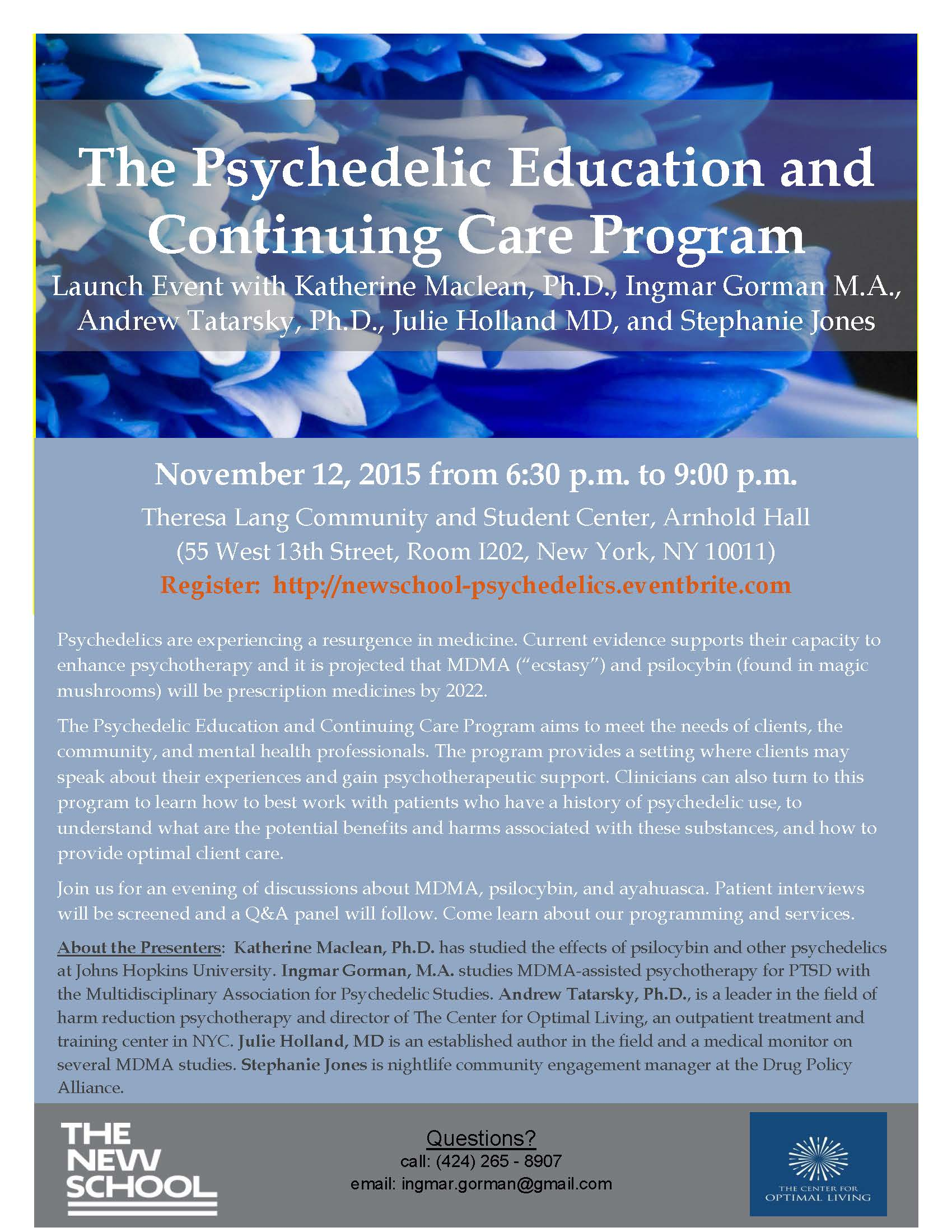 Psychedelic Education And Continuing Care Program Launch Event Tickets New York