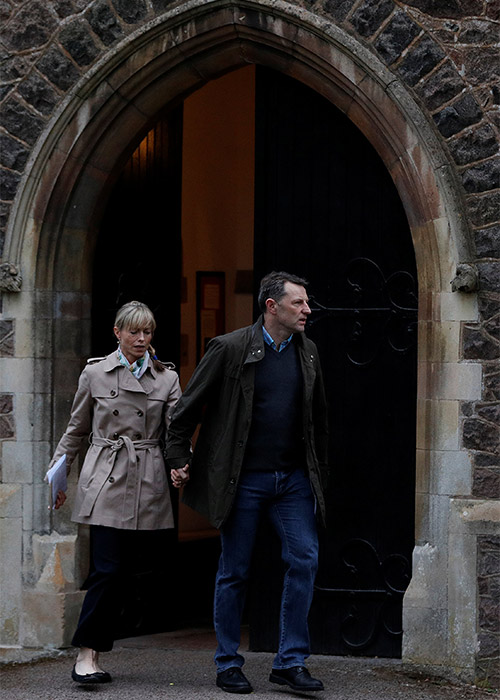 Kate And Gerry McCann Pray At Service For Missing Daughter
