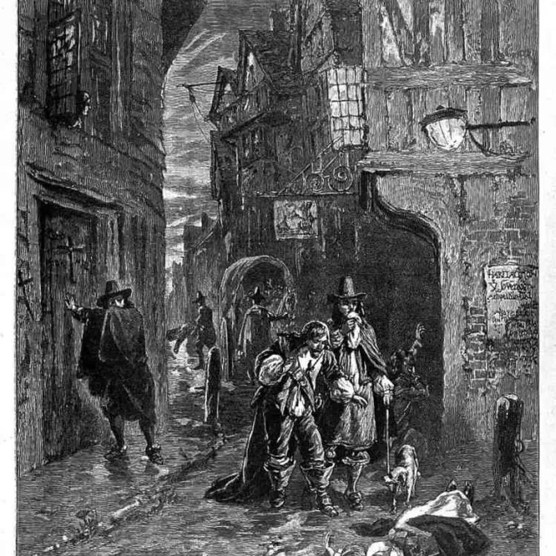 1665-1666 yıllarında meydana gelen veba sonucu Londra nüfusunun dörtte birinin yaşamını yitirdiği düşünülmektedir.