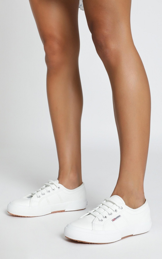 Superga - 2750 EFGLU Sneaker In White Leather 12
