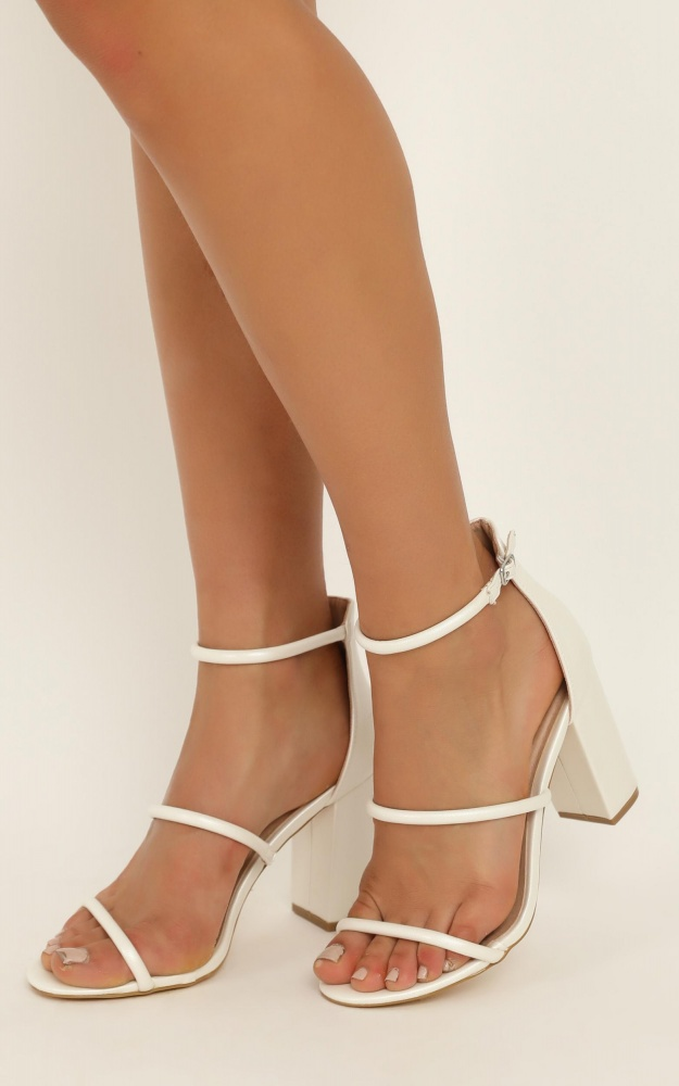 Billini - Marlie Heels In White Pearl 9