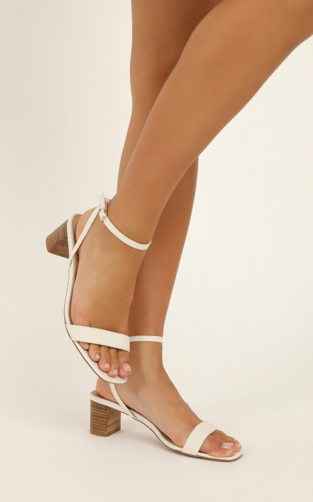 Billini - Zuri Heels In White Linen 4