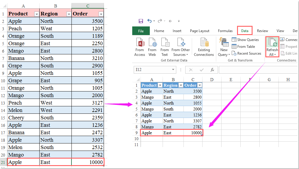 How To Filter Data From One Worksheet To Another