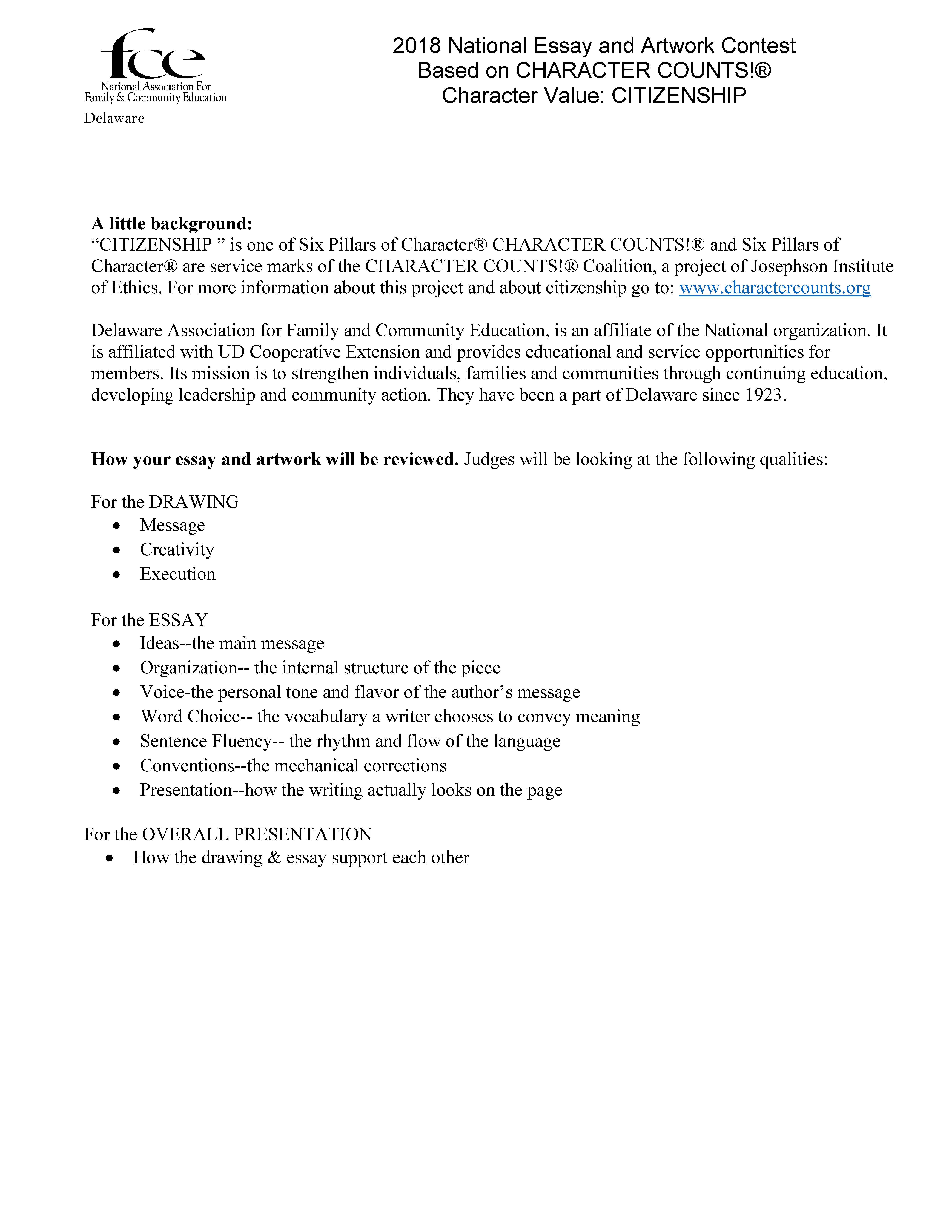 Six Pillars Of Character Essay Six Pillars Of Character Case Study 02 08
