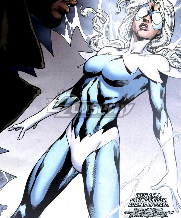 DC Comic Titans Dawn Granger Dove Blue Cosplay Costume
