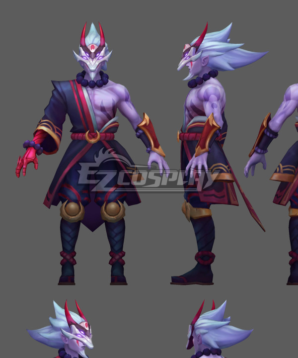 Blood Moon Master Yi Cosplay Costume