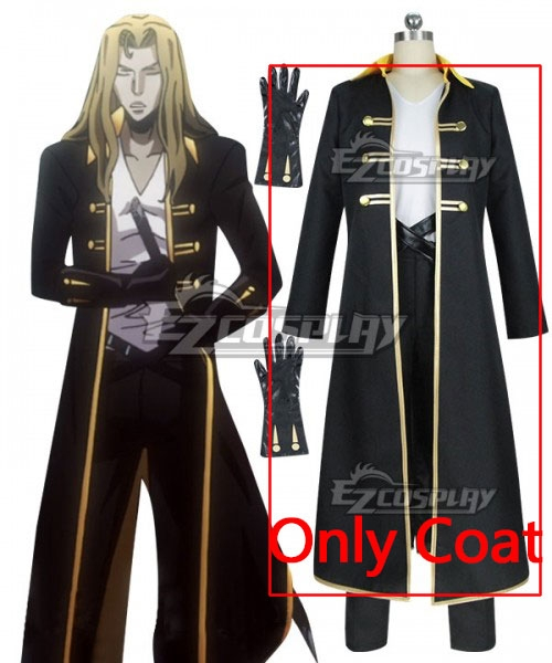 Castlevania Season 2 2018 Anime Alucard Cosplay Costume - Only Coat