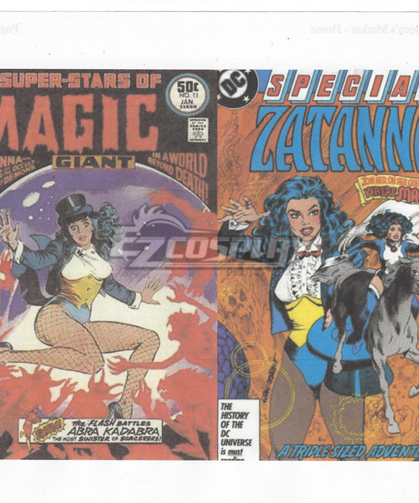 DC comics Zatanna Cosplay Costume