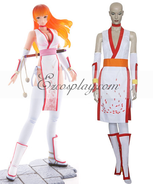 Dead or Alive Kasumi White Cosplay Costume