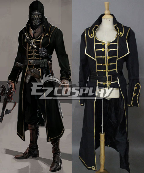 Dishonored Corvo Black Coat Cosplay Costume