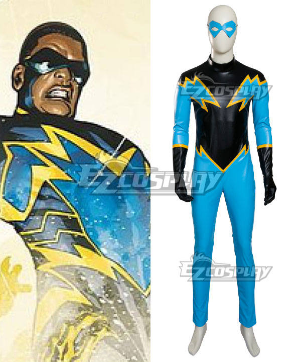 DC Comic Justice League Black Lightning Cosplay Costume