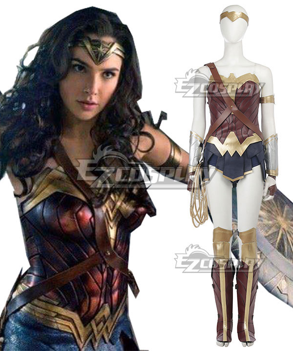 DC Wonder Woman 2017 Movie Diana Prince Cosplay Costume - New Edition