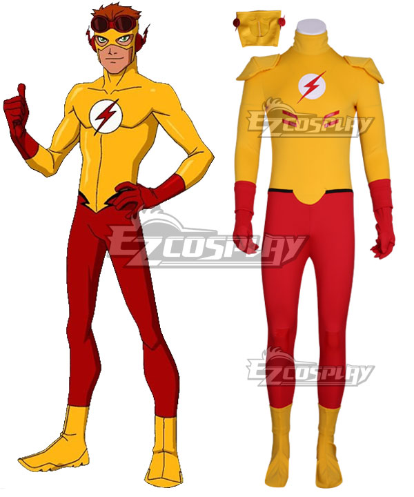 DC Young Justice The Flash Cosplay Costume