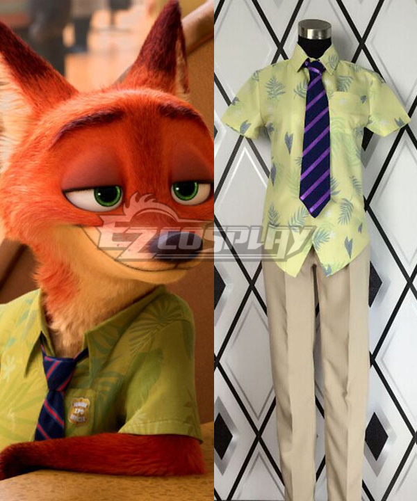 Disney Zootopia Nicholas P. Wilde Fox Nick Cosplay Costume