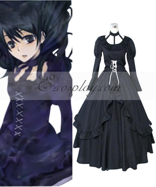 D.Gray-man Lenalee Lee Princess Black Dress Cosplay Costume