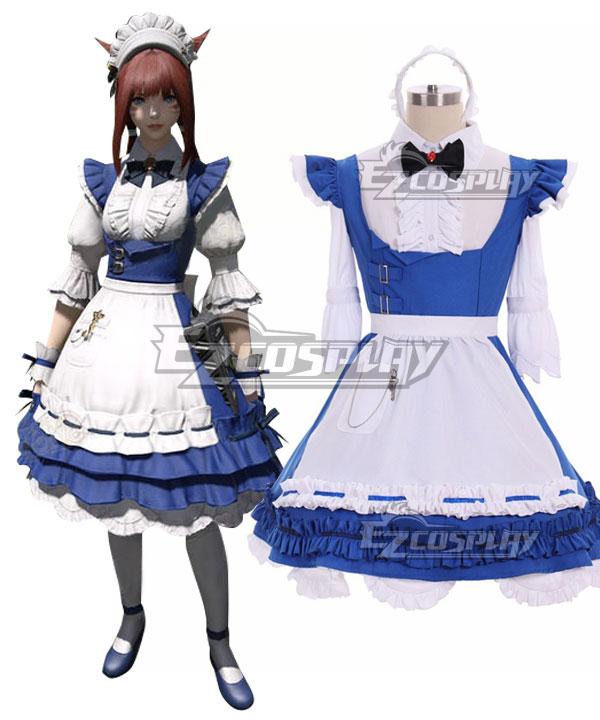 Final Fantasy XIV FF14 Csilla Beleth Maid Cosplay Costume