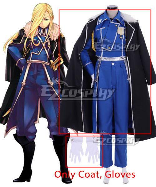 Fullmetal Alchemist Olivier Mira Armstrong Cosplay Costume - Only Coat, Gloves