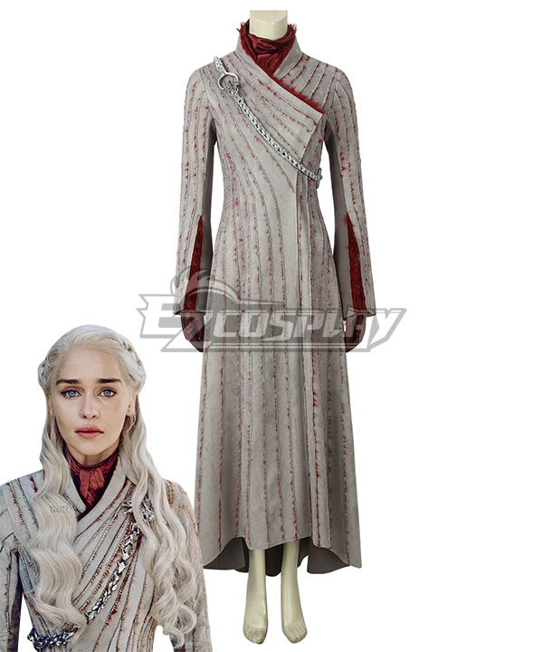Game of Thrones Season 8 Mother of Dragons Daenerys Targaryen Cosplay Costume