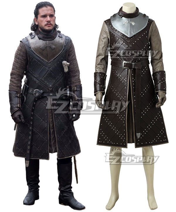 Game of Thrones Season 7 Jon Snow Cosplay Costume - B Edition