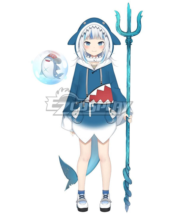 Holdlive Virtual YouTuber English Gawr Gura Cosplay Costume
