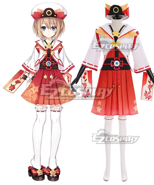 Hyperdimension Neptunia Blanc Red Cosplay Costume