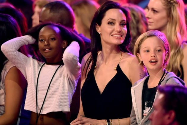 Zahara pictured with Angelina and Shiloh