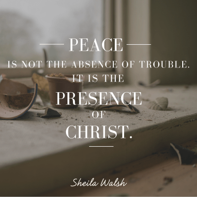 Peace in the Eye of the Storm   In the Middle of the Mess by Sheila Walsh