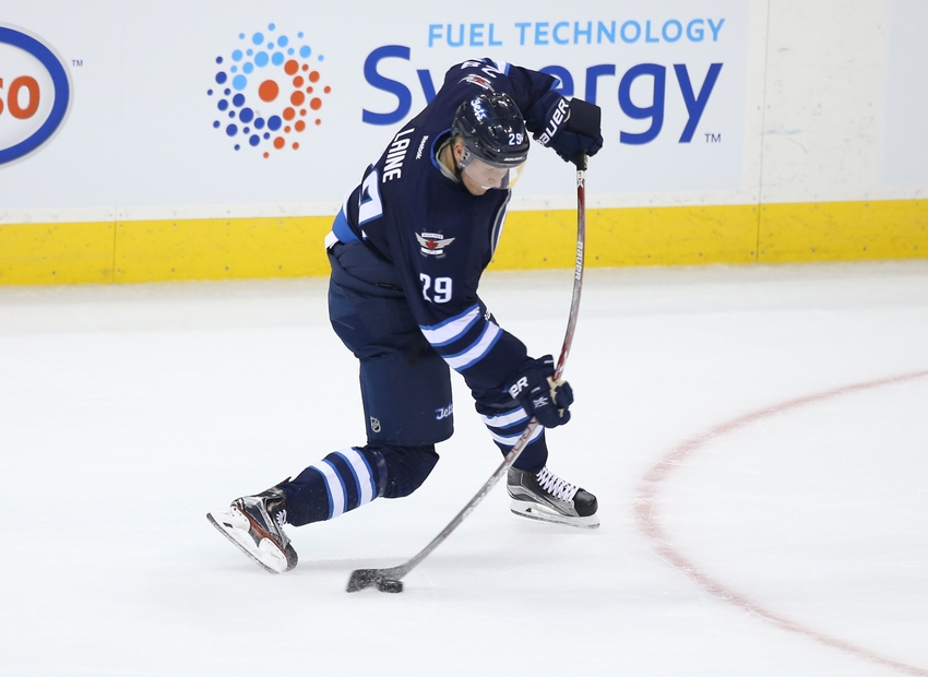 Patrik Laine's shot has earned rave reviews during his first NHL season