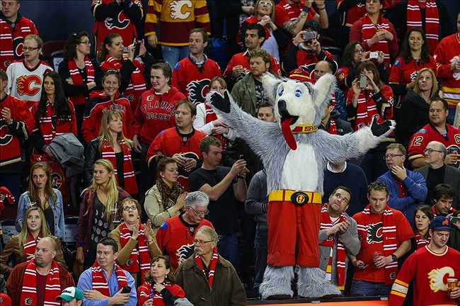 Image result for oilers and flames fans