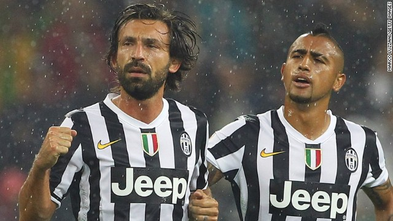 Pirlo and Vidal left the Italian Champion this Summer