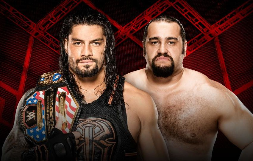 Image result for roman reigns vs rusev hell in a cell