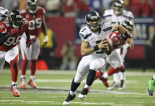 Image result for russell wilson vs falcons