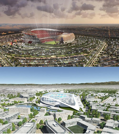 Competing Carson and Inglewood Stadium Proposals