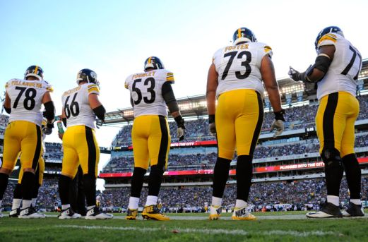 Image result for steelers offensive line