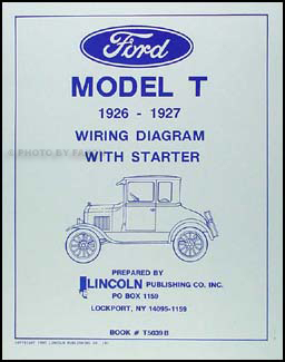 19261927 Ford Model T Wiring Diagram Manual Reprint